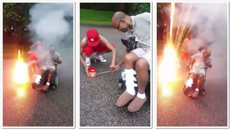 Fireworks Almost Claimed The Life Of Dude In Wheelchair