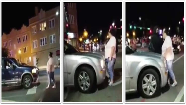 Fat Black Lives Matter Protestor Blocking Traffic Gets Ran Over