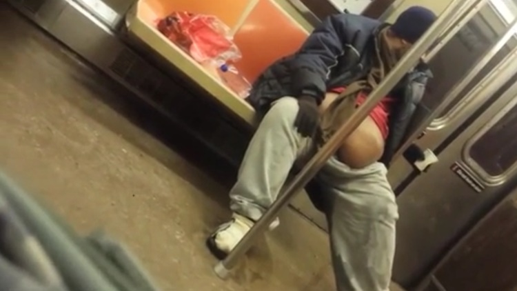 Black Man Puts Cup In His Pants, Pees In It, Then Pours It On The Floor In NYC