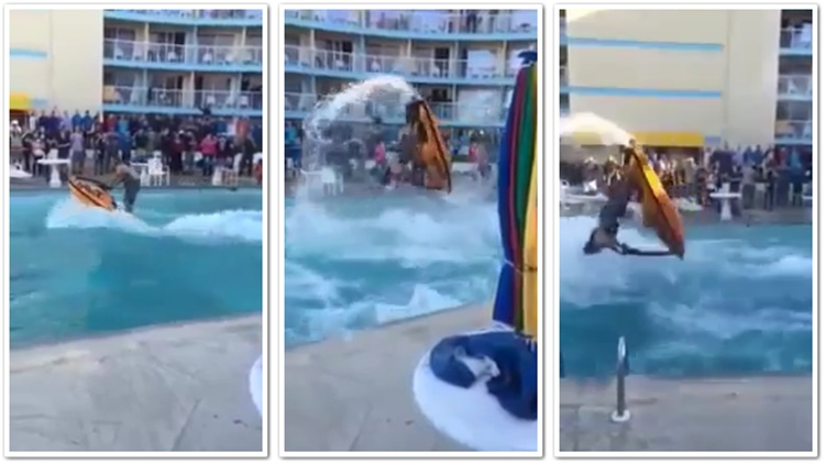 Man Does Back Flips On Jetski In A Pool