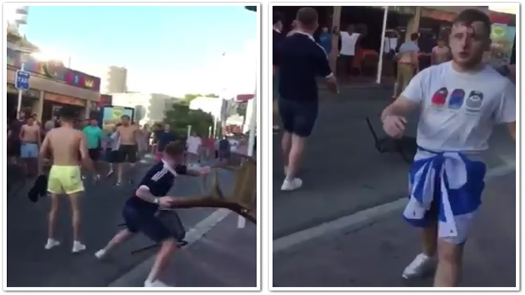 Fight Erupts Between Two The Fans Of Two Soccer Team Rivals