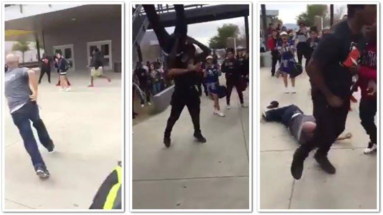 Security Guard Gets Flipped At Betty H. Fairfax High School