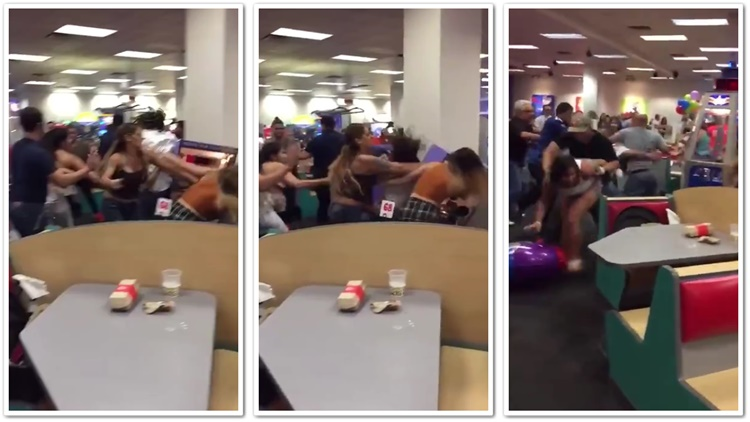 Family Versus Family Battle Royale At Chuck E Cheese In Florida