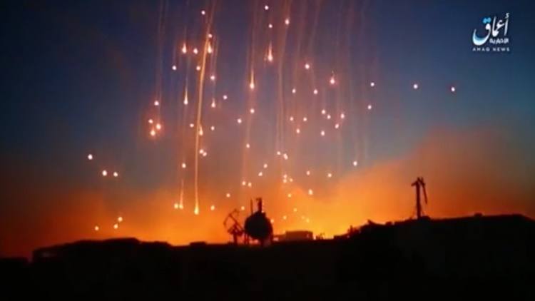 Coalition Forces Allegedly Shell ISIS With White Phosphorus In Raqqa