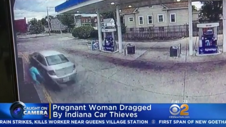 Pregnant Woman Dragged By Alleged Car Thieves