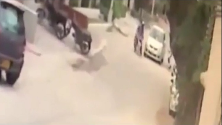 Motorcyclist Gets Hit And Dragged By Car