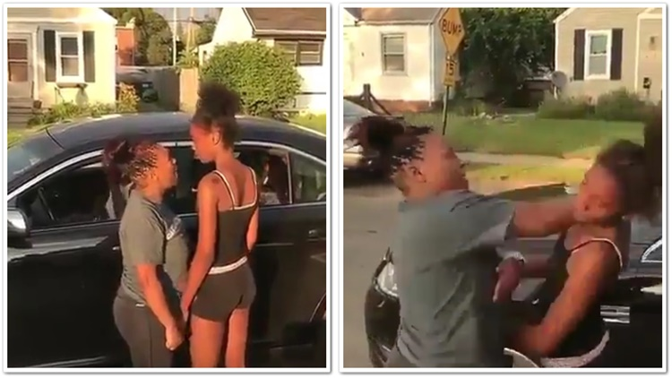Midget Mother Beats Her Daughter For Loosing A Fight