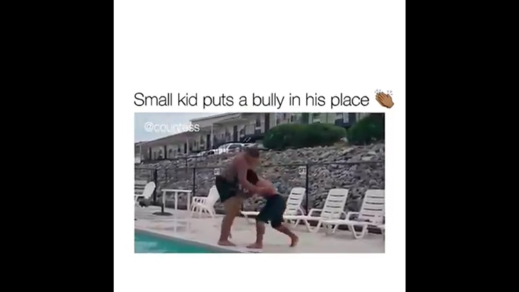 Little Kid Makes Big Bully Cry
