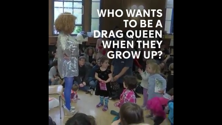 Drag Queen Reads Rooks to Teach Kids About Fluid Genders