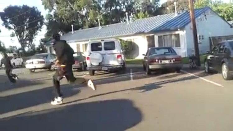 Man Caught Stealing in Hood Gets Jacked Up