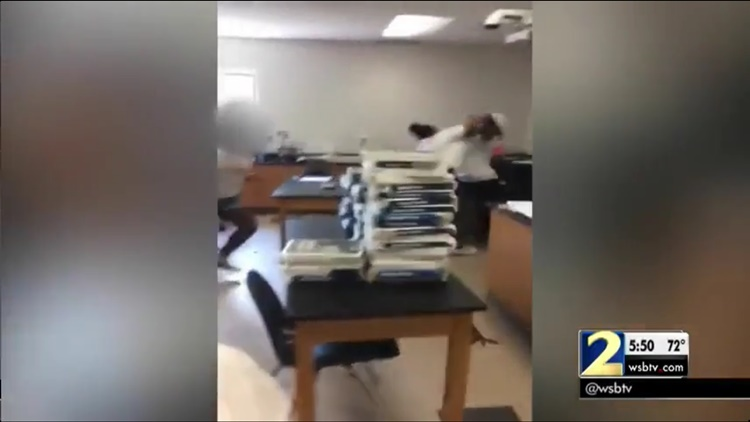 Georgia Teachers Caught On Video Throwing Blows In Front Of Students